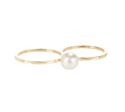 Pearl & Gold Double De Perle Ring