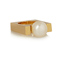 Darcey Gold-Tone Faux Pearl Ring
