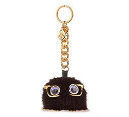 Mink Pompom Key Ring