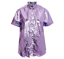Metallic Coated Cotton Shirt