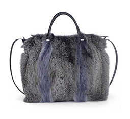 Medium March Genuine Fox Hair Satchel