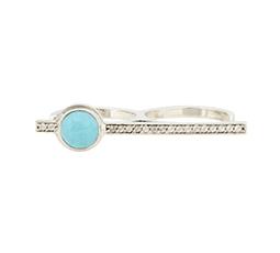 White Topaz & Turquoise Telepathy Ring