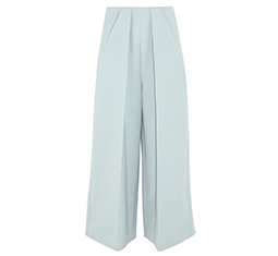 Pleated Twill Wide Leg Pants