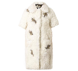 Anouk Embellished Shearling Coat