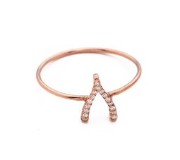 Diamond Mini Wishbone Ring