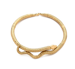 Gold Articulated Snake Necklace