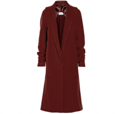 Wool Blend Twill Coat
