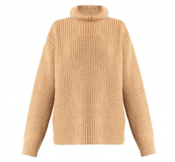 Roll Neck Wool and Angora-Blend Sweater