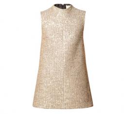 Sequined Tweed Mini Dress