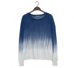 Painted Wool Cashmere Crew Neck Sweater