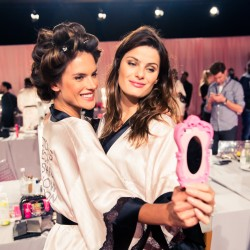 Backstage at the 2014 Victoria's Secret Show