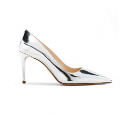 Pointy Toe Leather Pump