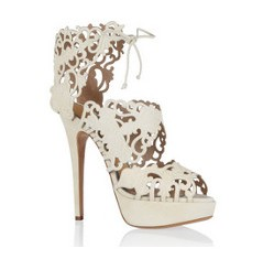 Belinda cutout suede sandals