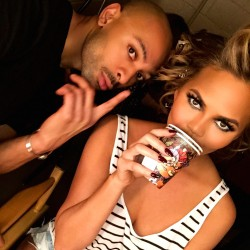 Backstage at the Billboard Music Awards with Chrissy Teigen