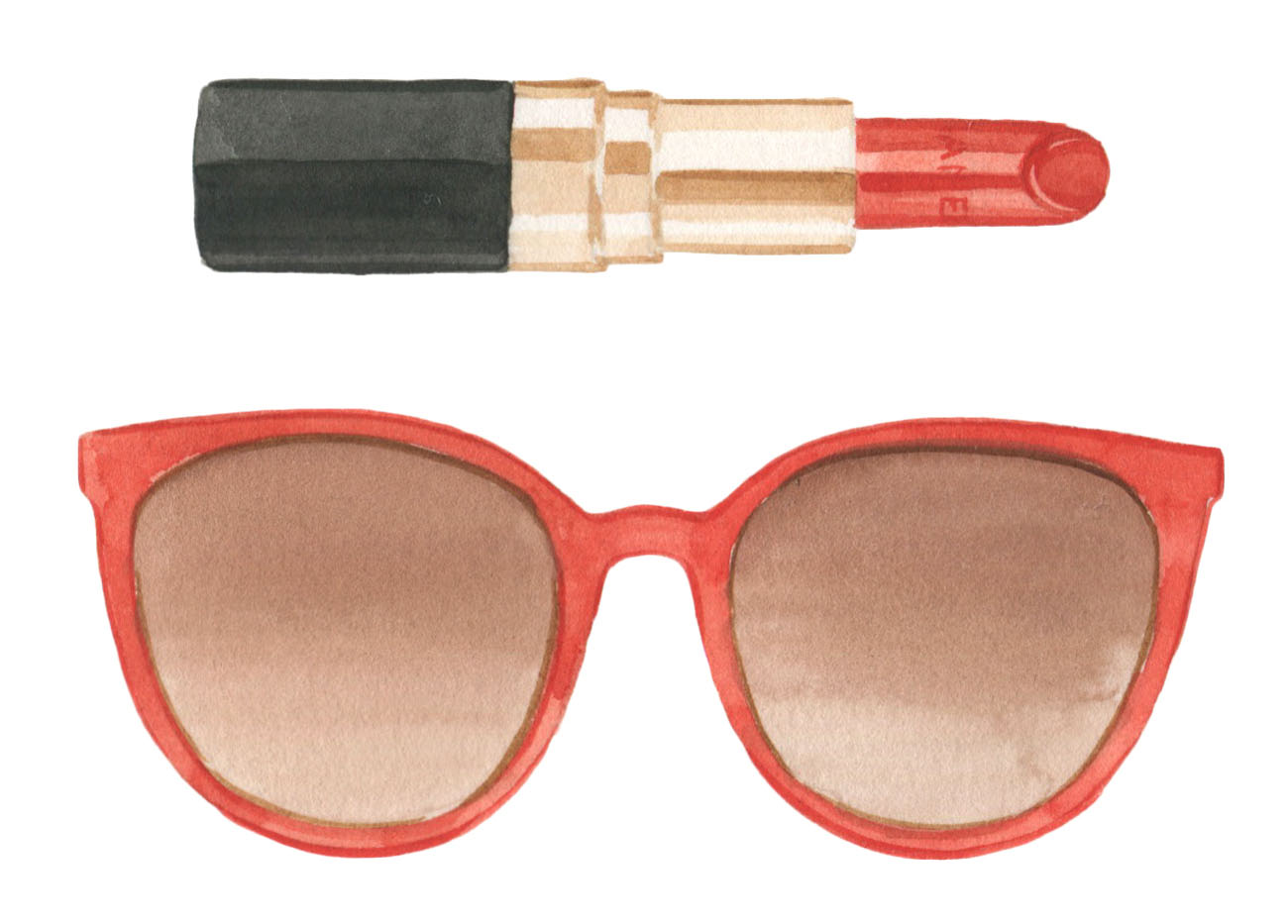 How to Match Your Sunglasses to Your Lipstick