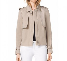 Cropped Sateen Trench