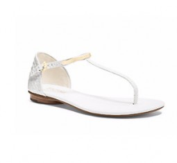Kristen Embossed-Leather Sandal