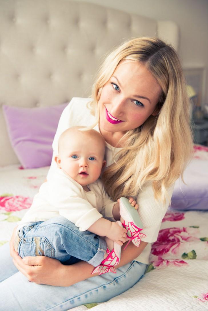 Image result for sophia webster and daughter