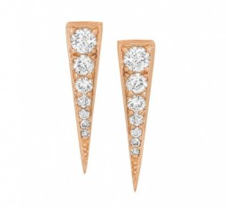 Dagger 18-karat Rose Gold Diamond Earrings