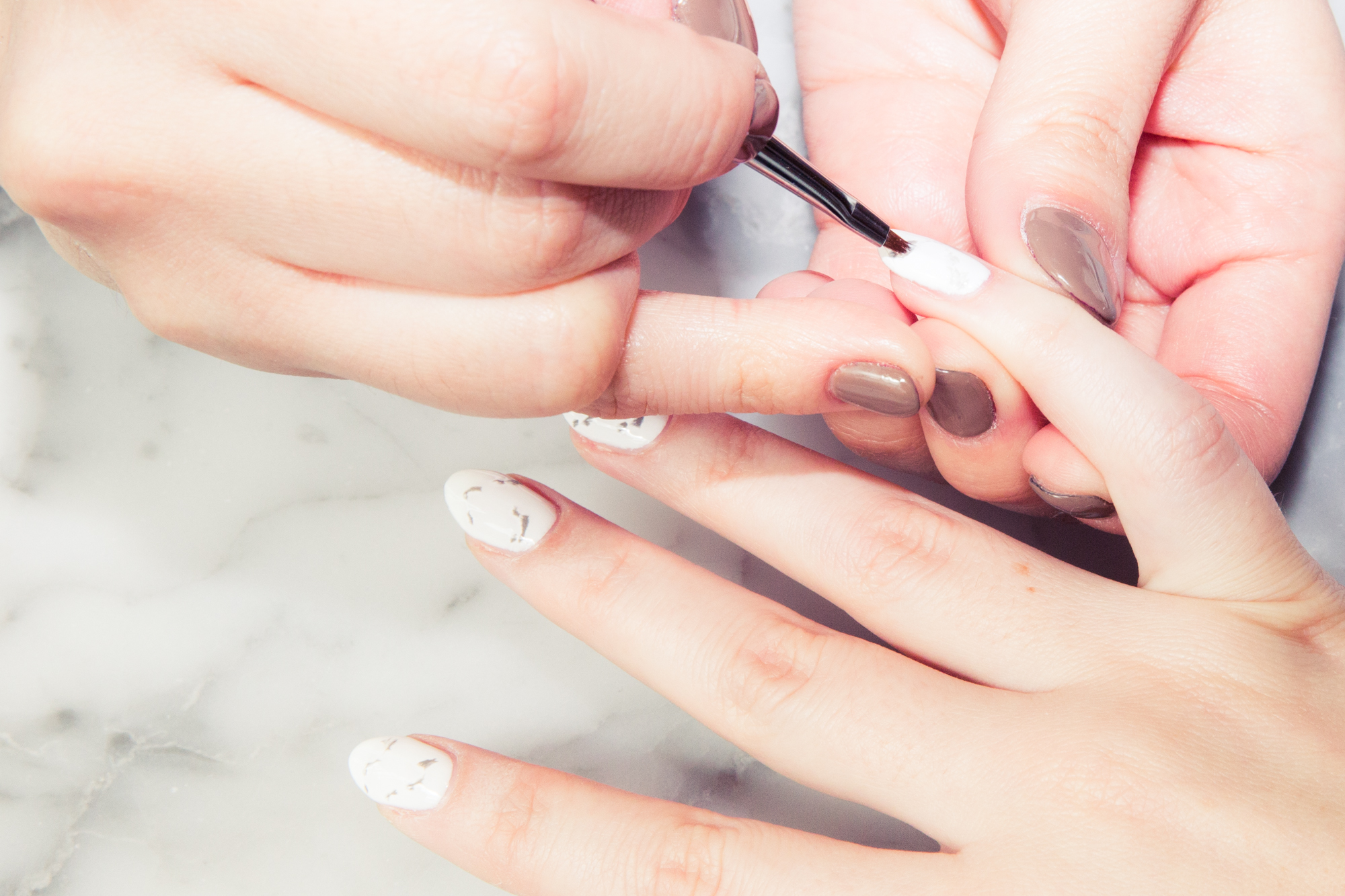 Marble Nail Art How To Tutorial - Coveteur