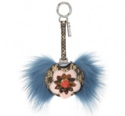 Fashion Show Mink and Fox-Fur Bag Charm