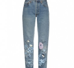 Wild Flower embroidered cropped jeans