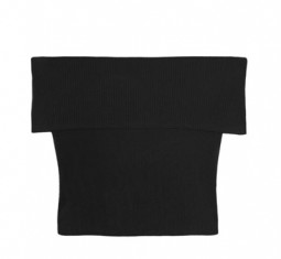 Off-the-shoulder plissé cotton-jersey top