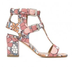 Multicoloured lambskin 'Diane' sandals