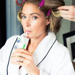Doutzen Kroes Gets Ready for the Met Gala