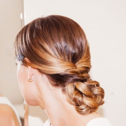 How to Copy the Prettiest French Braid Bun from Marchesa's Bridal Show