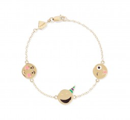 Celebration 14-karat gold enamel bracelet