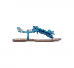 Gela fringed suede sandals