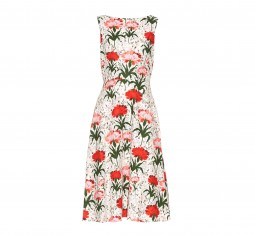 Maia Carnation-print sleeveless dress