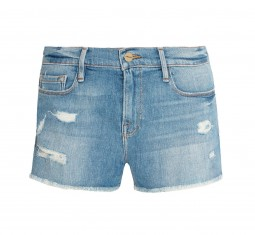 Le Cutoff distressed stretch-denim shorts