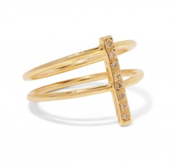 Fiesta gold-tone diamond ring