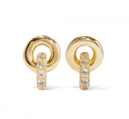Neko gold-plated topaz earrings