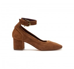 Nicolette saddle suede pump