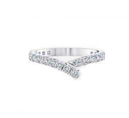 Ribbon diamond wedding band