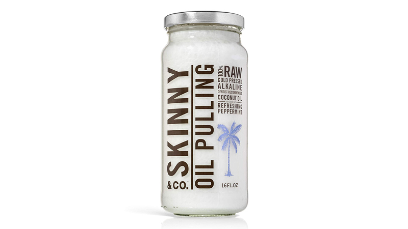 skinny and co 100 percent raw oil pulling peppermint coconut oil