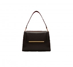 Fionah folded edge leather shoulder bag