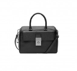 Manning luggage lock leather duffel bag