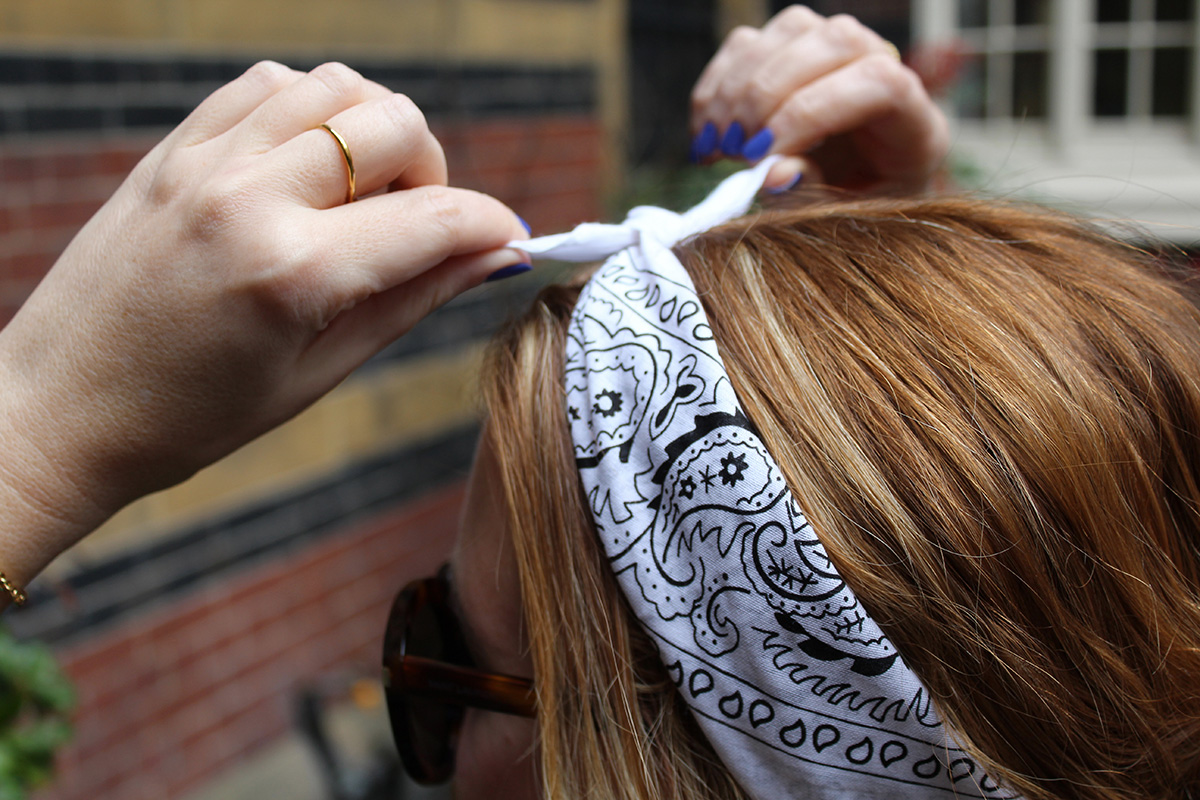 The Meaning Behind Fashion Week's White Bandana - Coveteur