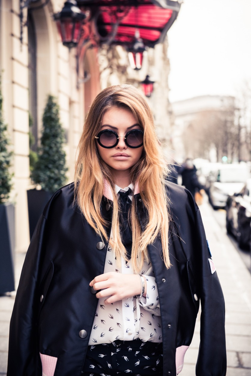Getting Ready with Thylane Blondeau For the Miu Miu Fall 2017 Show ... cb4af87769258