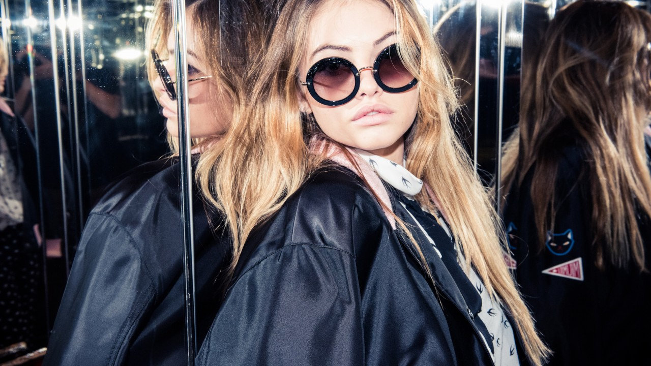 Getting Ready with Thylane Blondeau Before the Miu Miu Show