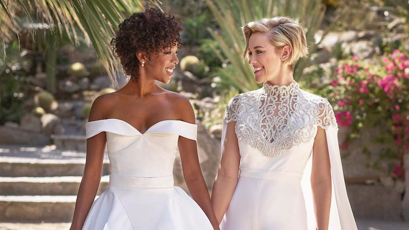 This <em>OITNB</em> Star's Honeymoon Dress Is Just as Stylish as Her Wedding Gown