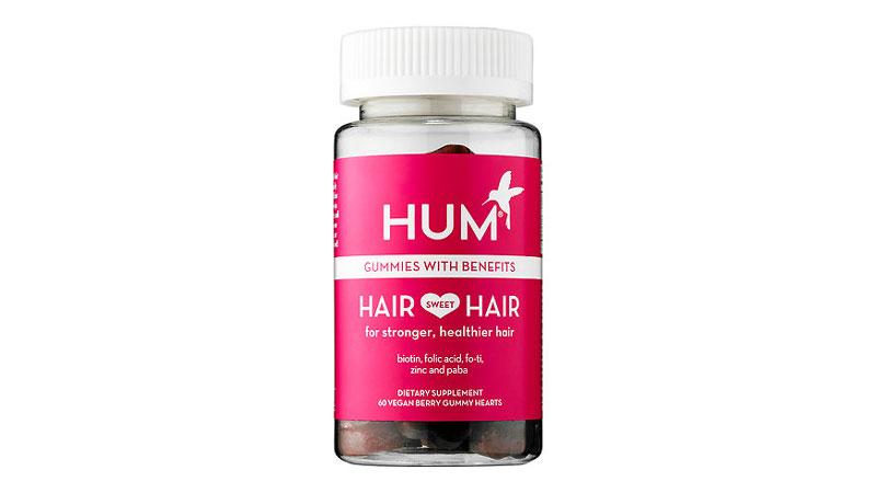 hum hair sweet hair growth vegan gummies