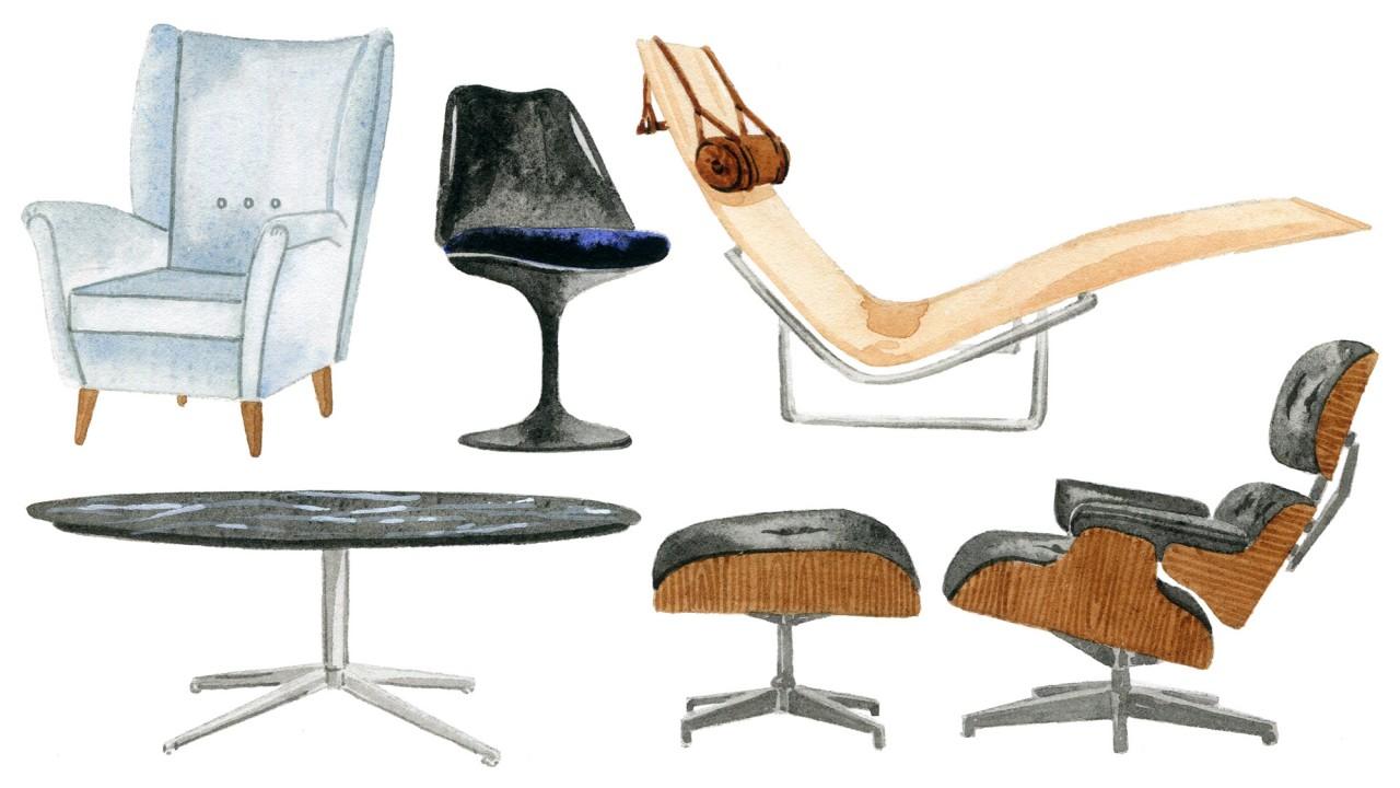 Popular Midcentury Furniture Designers, 1950 Furniture Designers