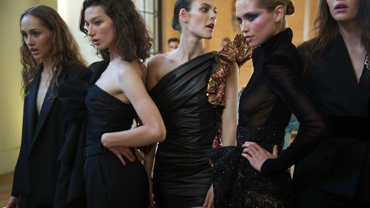 Behind the Scenes at Alexandre Vauthier's Disco-Inspired Couture Show