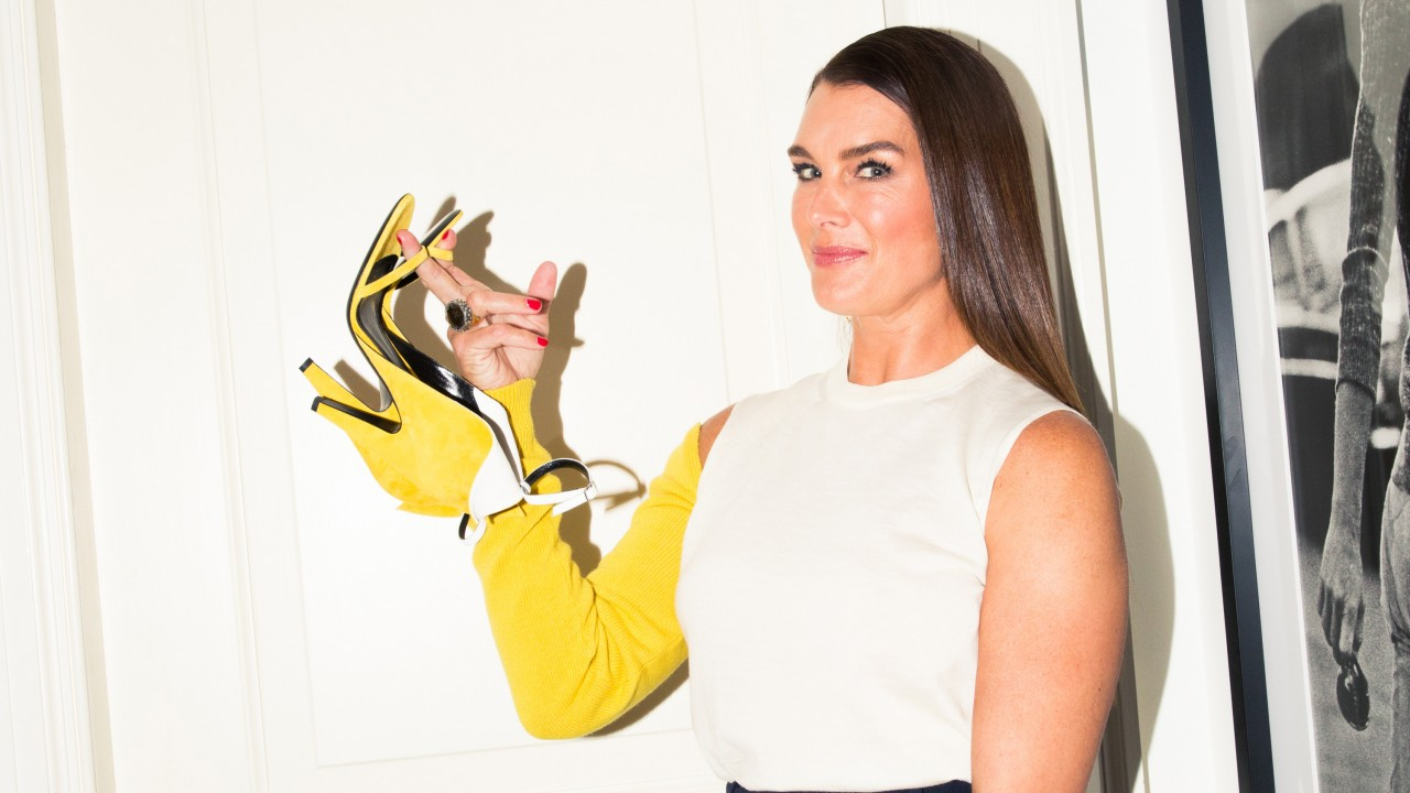 The Unexpected Item Brooke Shields Wore to the Calvin Klein Show