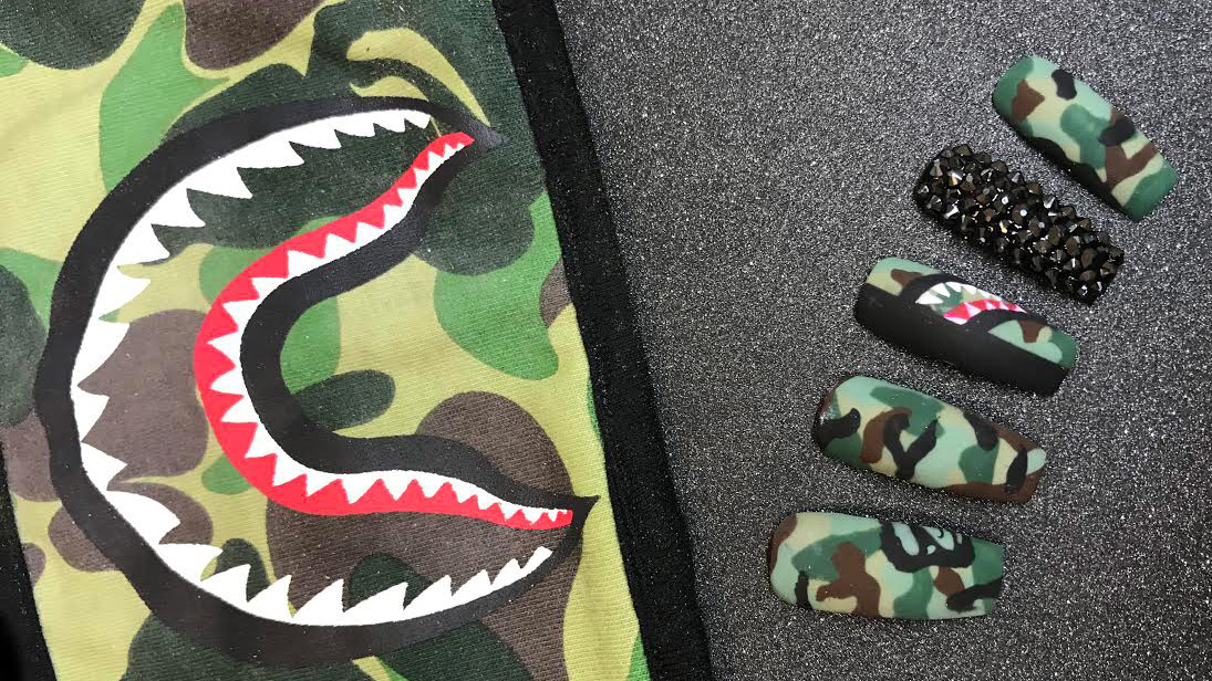 We're Obsessed with This Streetwear-Inspired Nail Art Trend
